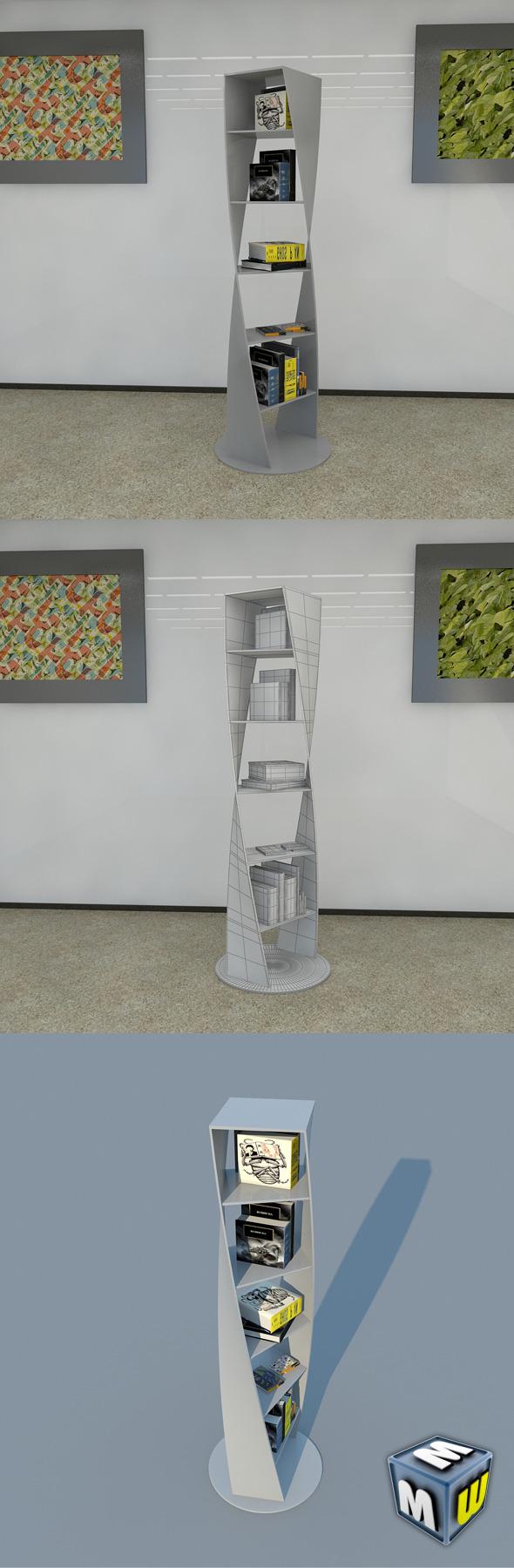 Bookshelf 14 MAX 2011 - 3DOcean Item for Sale