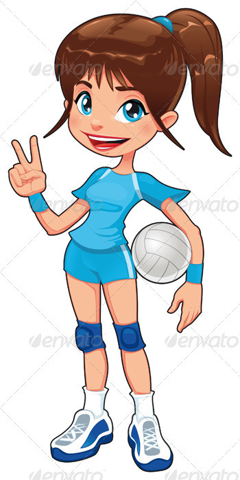 Young volleyball player. - Sports/Activity Conceptual