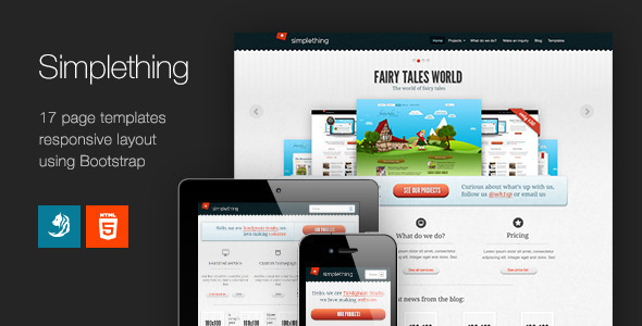 Simplething – a clean HTML template