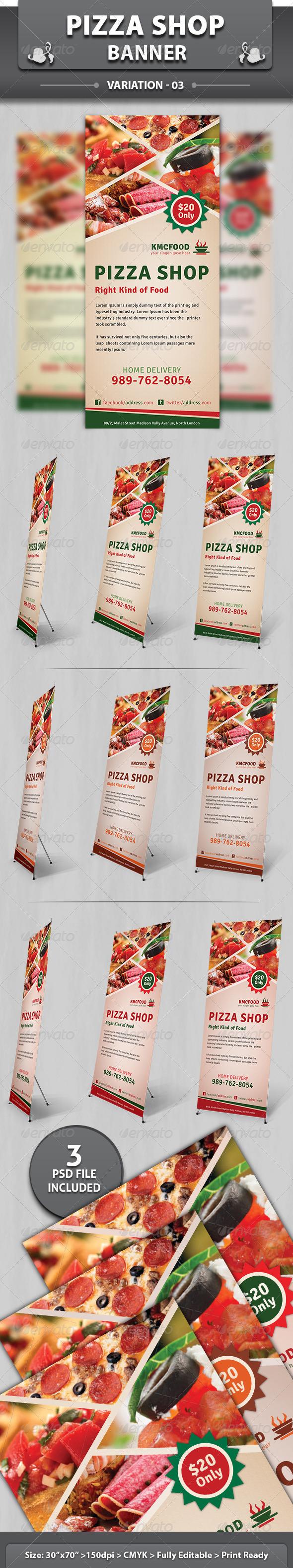 Restaurant Business Banner | Volume 2 - Signage Print Templates