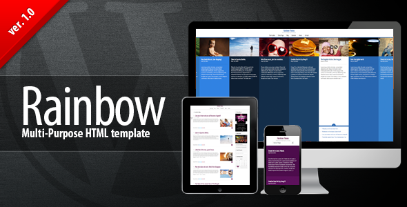 Rainbow HTML – Multi-purpose Premium Template