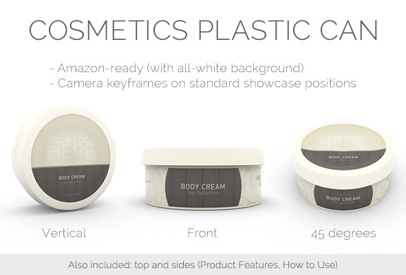 Cosmetics Plastic Can By Amberture 3docean