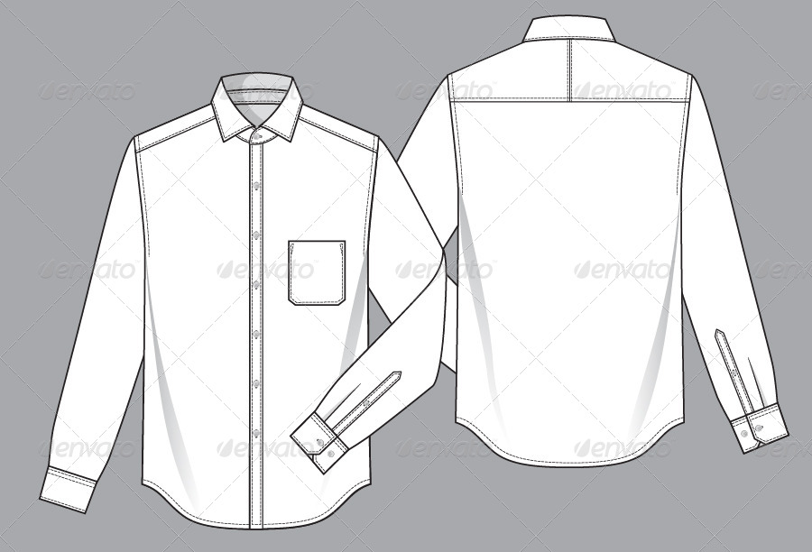 Mens Shirt Template by Monoapple | GraphicRiver