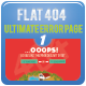 Flat 404 Error Pages - GraphicRiver Item for Sale
