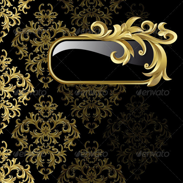 Black and golden background  - Backgrounds Decorative
