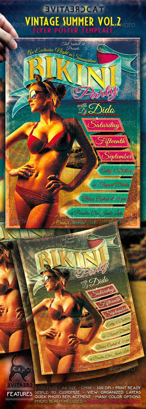Vintage Summer Flyer/Poster Vol.2 - Events Flyers