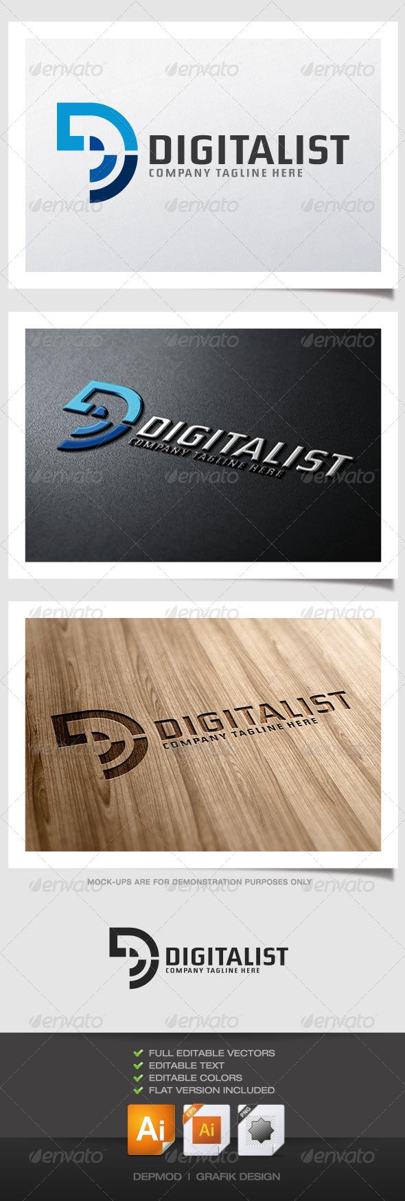Digitalist Logo - Letters Logo Templates