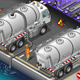 Isometric Liquid Tank Truck in Rear View - GraphicRiver Item for Sale