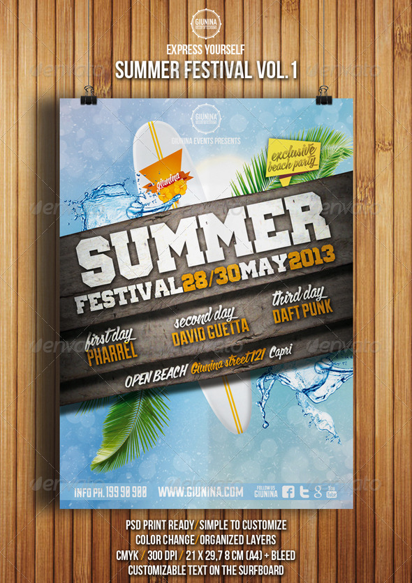 Summer Festival Flyer Vol.1 - Events Flyers