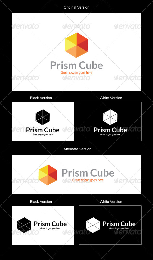 Prism Logo Design - 3d Abstract