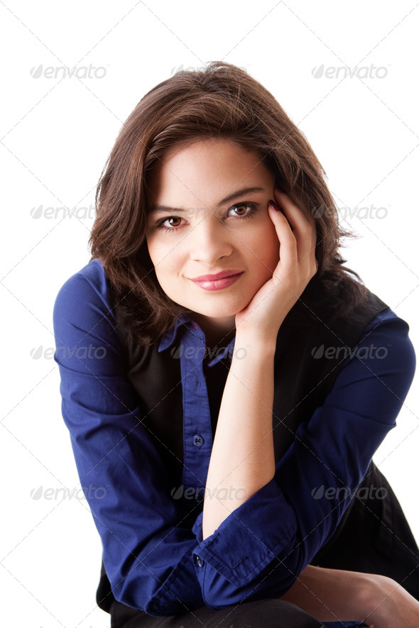 Face of beautiful business woman - Stock Photo - Images