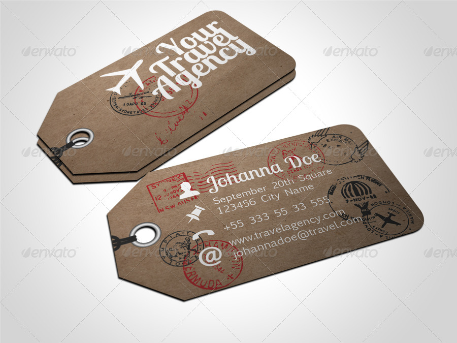 Travel tag business card template by freshinkstain graphicriver travel tag business card template real objects business cards 01bctraveltagg colourmoves