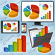 Charts and Devices Set - GraphicRiver Item for Sale