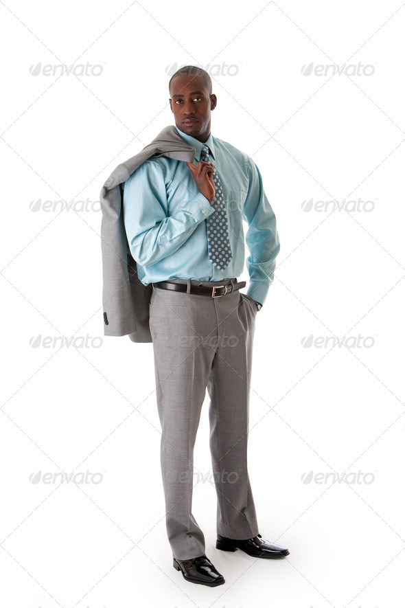 Handsome African business man - Stock Photo - Images