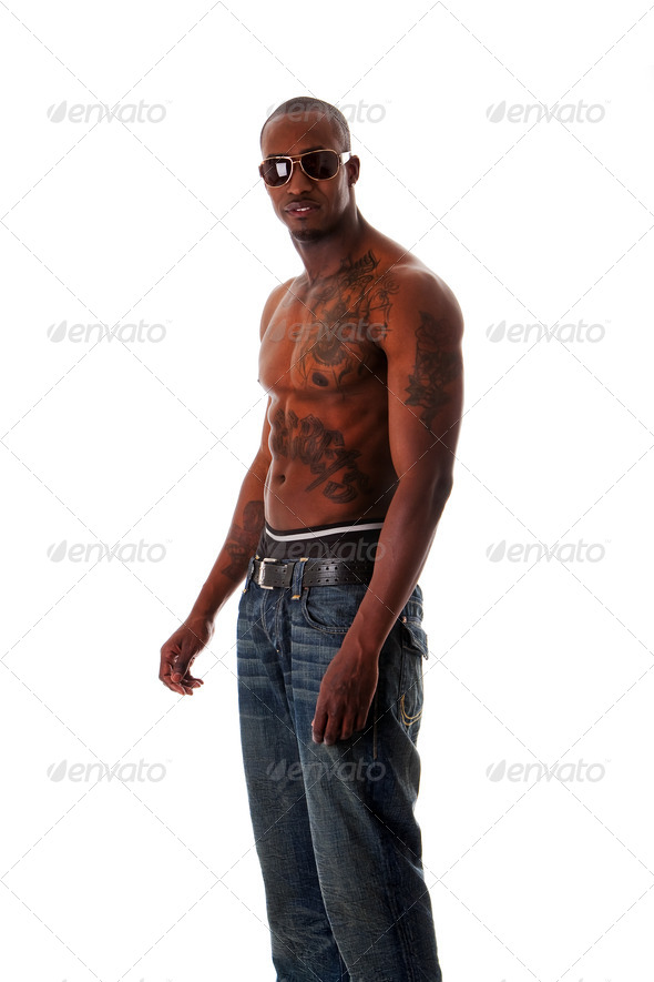 Fit African man - Stock Photo - Images