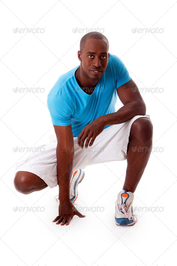 Handsome sporty guy - Stock Photo - Images