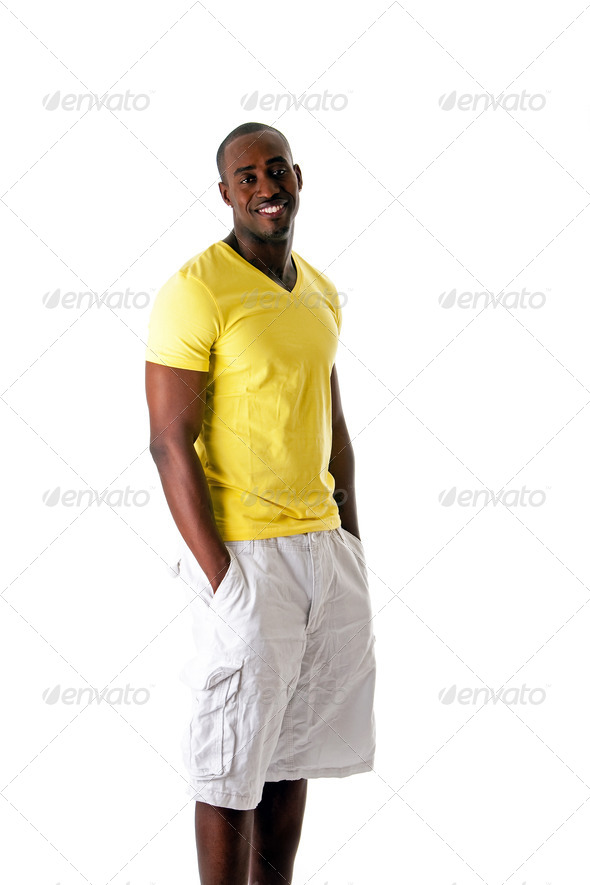 Handsome black male - Stock Photo - Images
