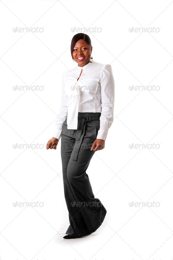 Happy African business woman - Stock Photo - Images