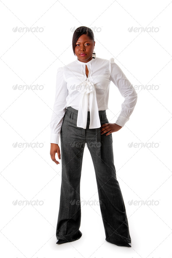Tough African business woman - Stock Photo - Images