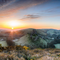 Sunrise at Corfe Castle - PhotoDune Item for Sale