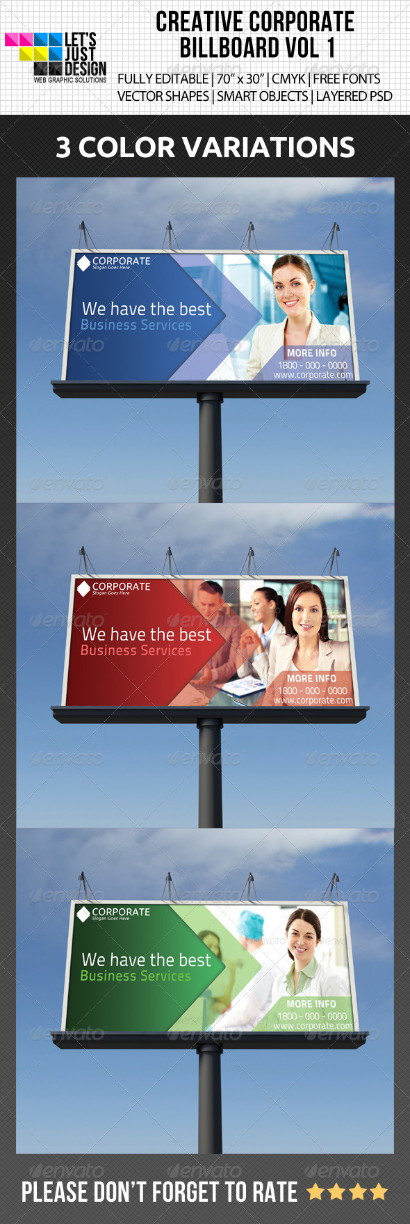 Creative Corporate Billboard Vol 1 - Signage Print Templates
