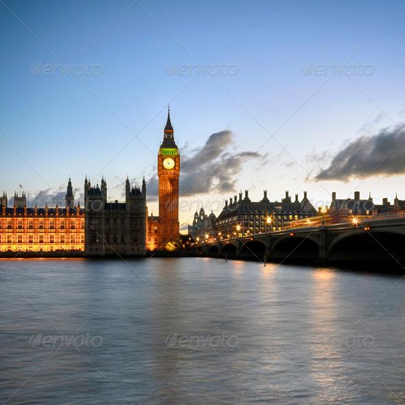 Westminster Biridge and Big Ben - Stock Photo - Images