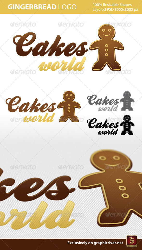 Gingerbread Logo Template - Food Logo Templates