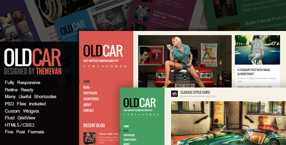 OldCar - Responsive Blog & Grid WordPress Theme - Personal Blog / Magazine