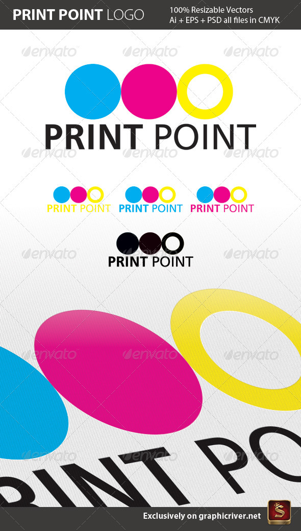 Print Point Logo Template - Abstract Logo Templates