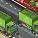 Isometric Garbage Cleaner Truck in Front View - GraphicRiver Item for Sale
