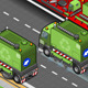 Isometric Garbage Cleaner Truck in Rear View - GraphicRiver Item for Sale