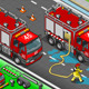Isometric Firefighter Truck in Front View - GraphicRiver Item for Sale