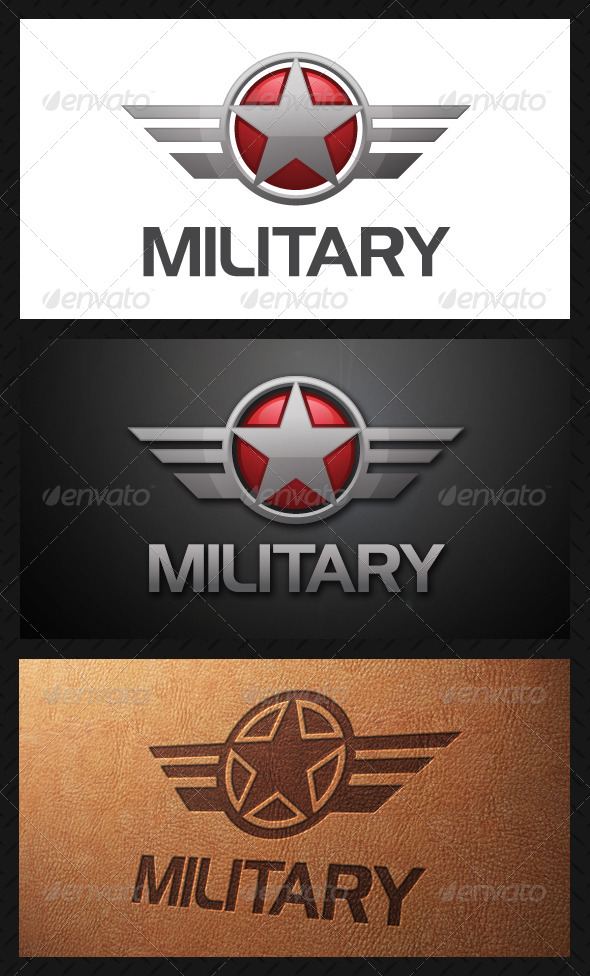 military crest logo template by bosstwinsart graphicriver. Black Bedroom Furniture Sets. Home Design Ideas