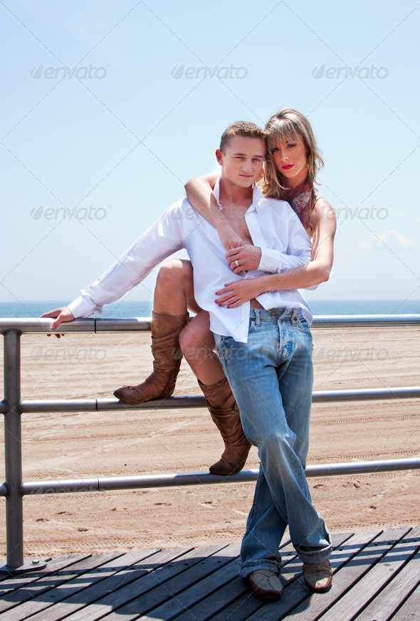 Sexy romantic couple - Stock Photo - Images