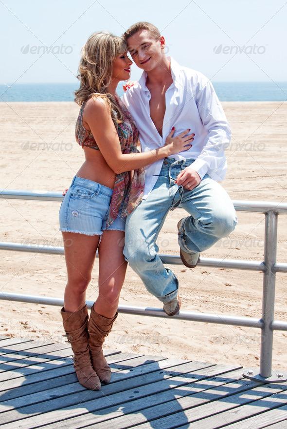 Happy romantic couple - Stock Photo - Images