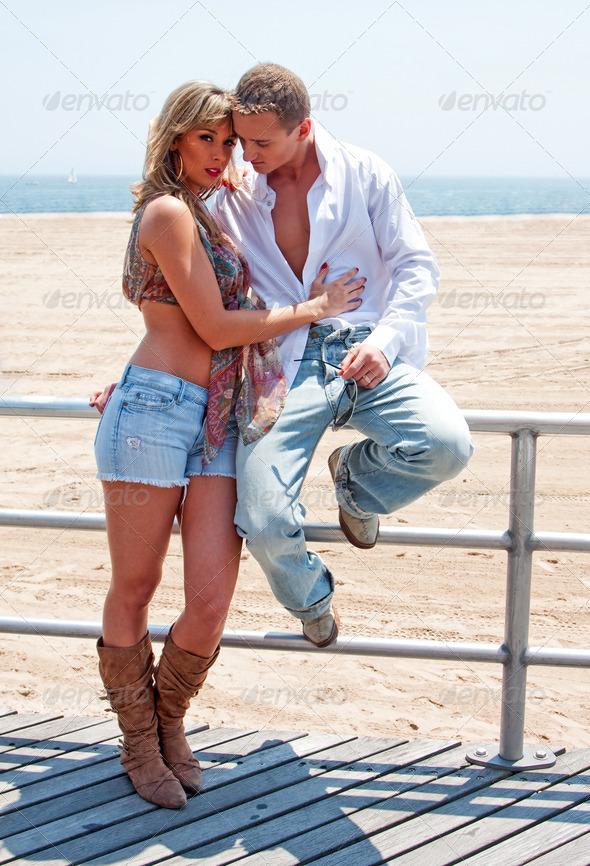 Sexy romantic couple - Stock Photo - Images