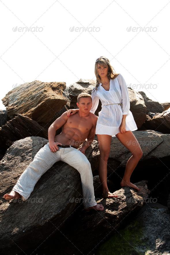 Fashion couple - Stock Photo - Images