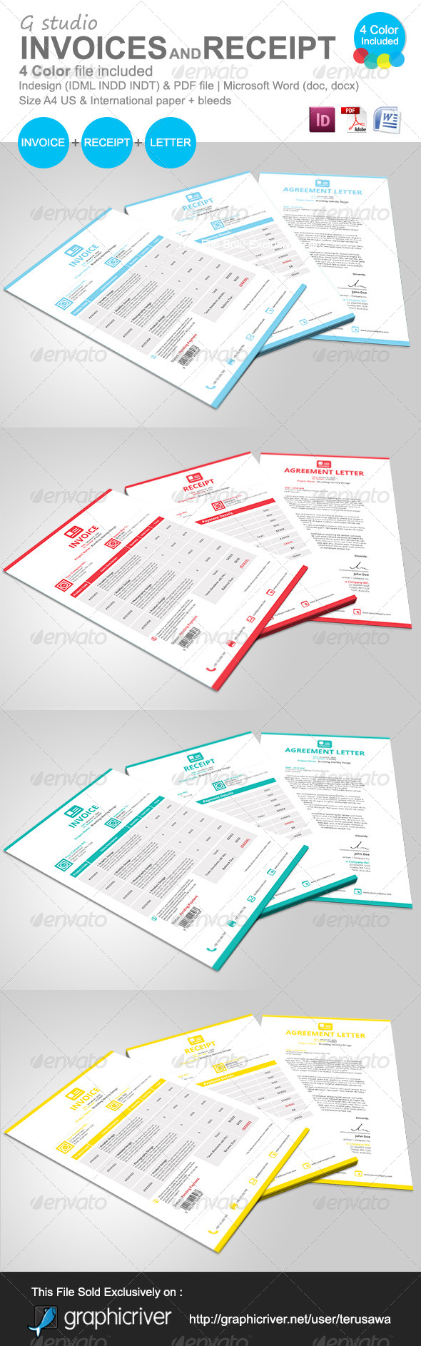 Home Depot Online Receipt Excel Gstudio Invoices And Receipt Template By Terusawa  Graphicriver Cost Of Processing An Invoice Word with Template Tax Invoice Excel Gstudio Invoices And Receipt Template  Proposals  Invoices Stationery Receipt Printing Machine Word