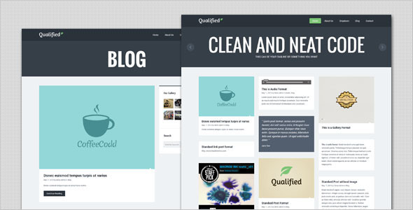 Qualified – Blog and Portfolio WordPress Theme
