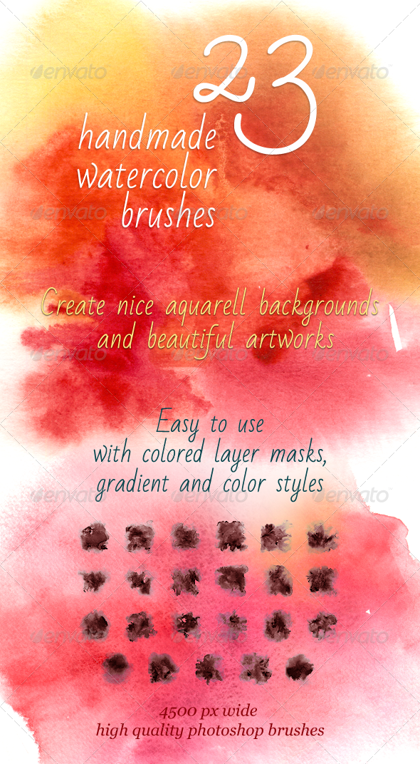 23 Handmade Watercolor Brushes - Artistic Brushes