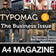 TypoMag - Corporate Business PSD Magazine Template - GraphicRiver Item for Sale