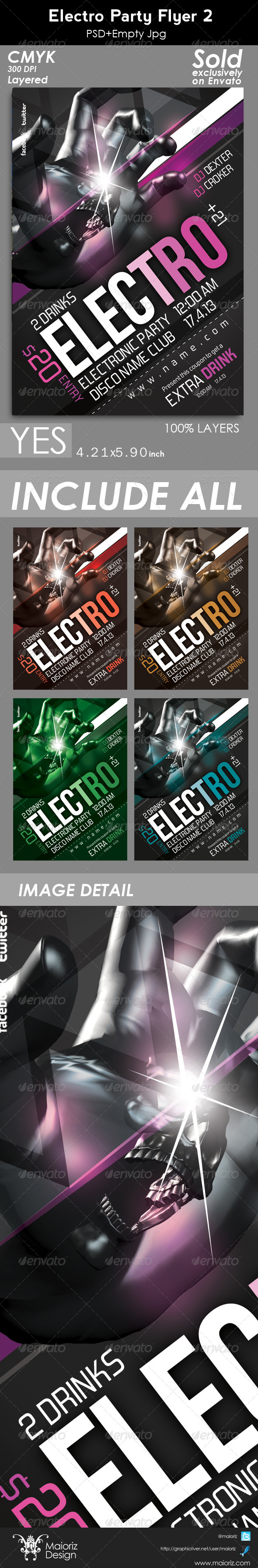Electro Party Flyer 2 - Clubs & Parties Events