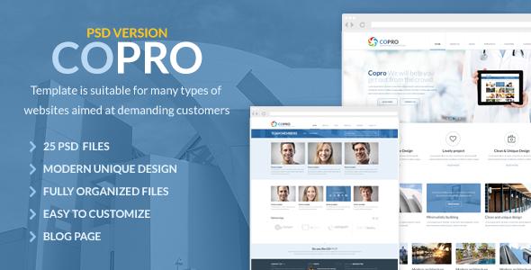 CoPro – Modern PSD Template