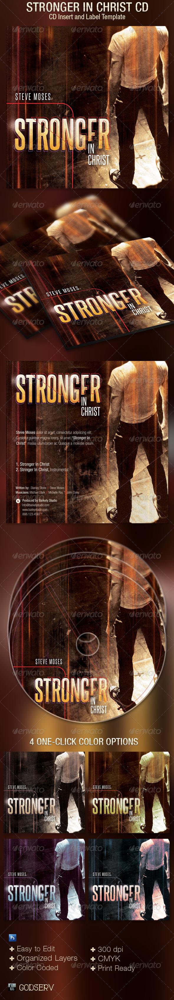 Stronger CD Artwork Template - CD & DVD Artwork Print Templates