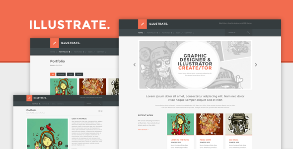 Illustrate - Responsive Portfolio & Blog Theme