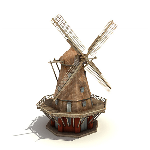 Big Copenhagen Windmill - 3DOcean Item for Sale