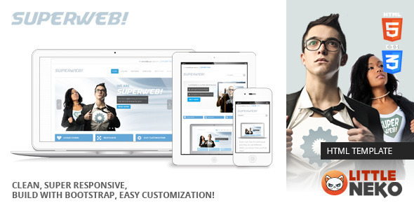 Superweb | HTML5 Bootstrap Website Template - Business Corporate