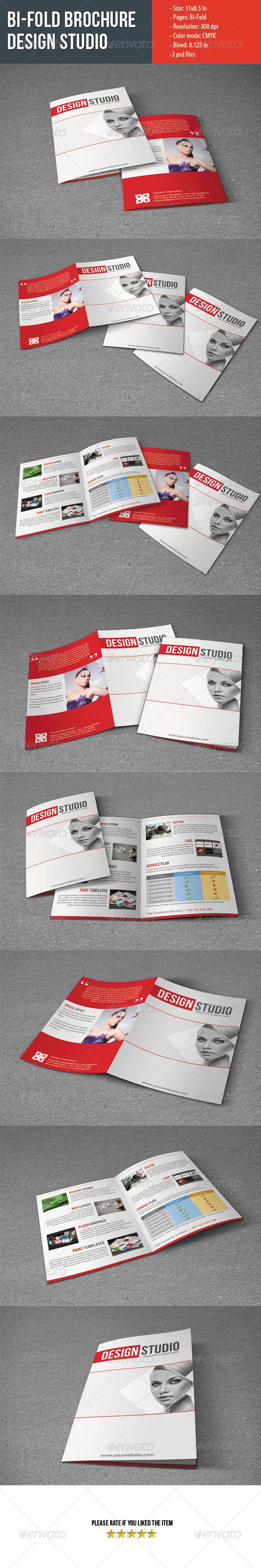 Bifold Brochure For Design Studio - Corporate Brochures