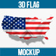 2D & 3D Flag on Country Map - GraphicRiver Item for Sale