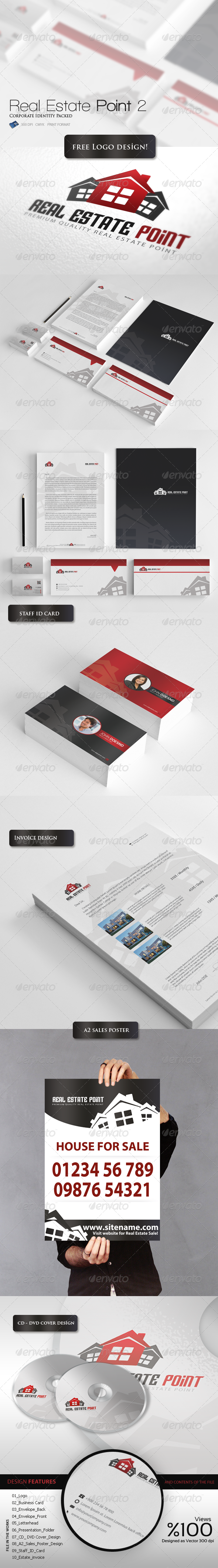 Real Estate Point - Corporate Identity Packed 7 - Stationery Print Templates